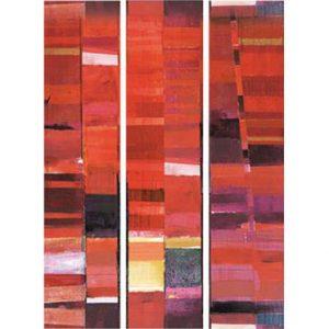 Casamance panoramic wallpaper Cadence Degradee red