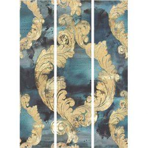Casamance panoramic wallpaper Dames Damas blue