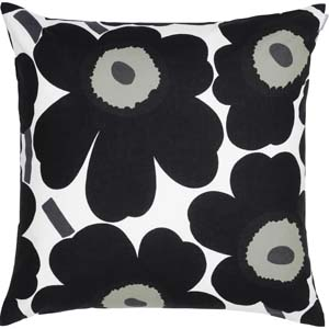 Marimekko cushion Pieni Unikko black