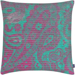 Aaizi cushion Mazan Fuchsia Green square