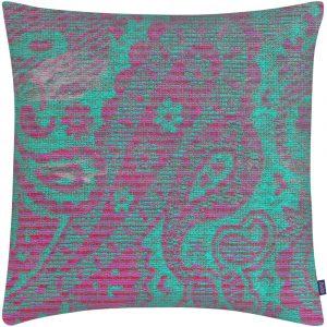 Aaizi cushion Mazan Fuchsia Green square