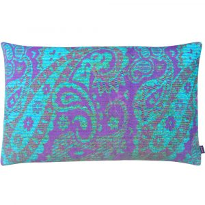 Aaizi cushion Mazan Purple Azur