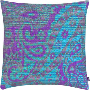 Aaizi cushion Mazan Purple Azur square