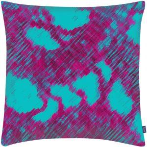 Aaizi cushion Nyons Fuchsia Jade square