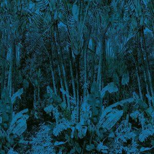 Casamance panoramic wallpaper Arbre du Voyageur blue