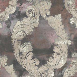 Casamance panoramic wallpaper Dames Damas grey