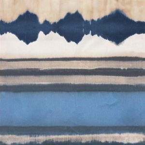 Casamance panoramic wallpaper Encre de Chine blue