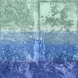 Casamance panoramic wallpaper Expression Minerale blue