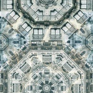 Casamance panoramic wallpaper Fievre Haussmannienne grey