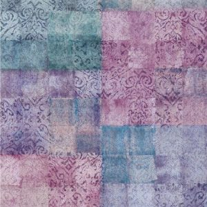 Casamance panoramic wallpaper Ghali Patchwork lilac