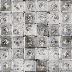 Casamance panoramic wallpaper Metal Carre grey