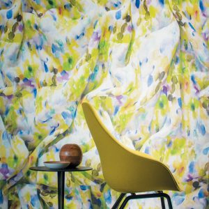 Casamance panoramic wallpaper Etincelle des Tropiques lemon
