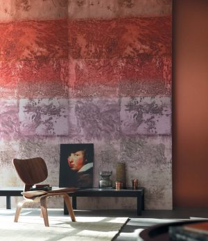 Casamance panoramic wallpaper Expression Minerale red