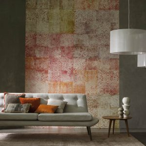 Casamance panoramic wallpaper Ghali Patchwork terra