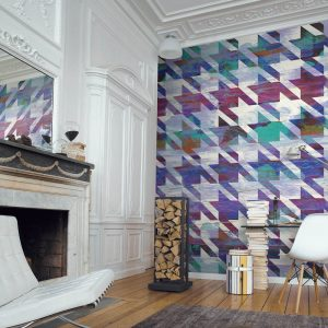 Casamance panoramic wallpaper Poule ou Pas multi