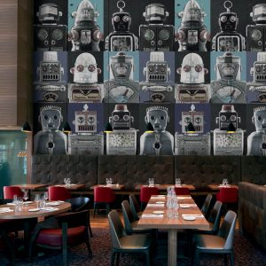 Casamance panoramic wallpaper Robots