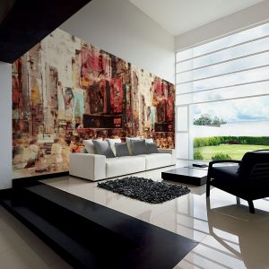 Casamance panoramic wallpaper Ville Advertising