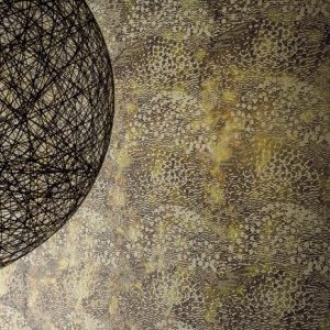 Casamance wallcovering Beaubourg turquoise
