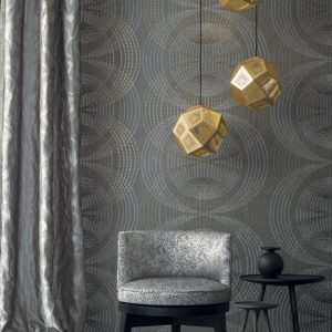 Casamance wallcovering Montorgueil grey
