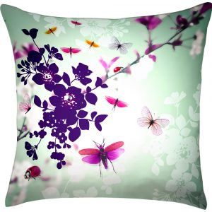 Chacha by Iris cushion Butterfly green