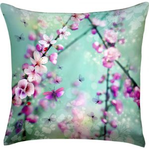 Chacha by Iris cushion Flore green