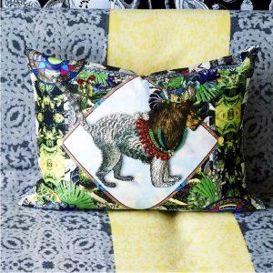 Christian Lacroix cushion Jungle Leo Perroquet