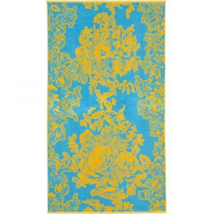 Elaiva beach towel Ancient Flowers Turquoise