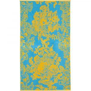 Elaiva beach towel Ancient Flowers Turquoise