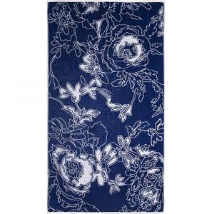 Elaiva beach towel Graphic Flowers Blue