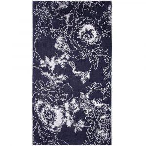 Elaiva beach towel Graphic Flowers Gray