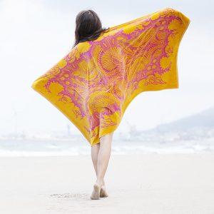 Elaiva beach towel Orient Mystic Fuchsia