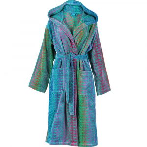 Elaiva hooded bath robe Ocean Magic Green