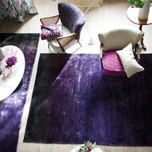 Designers Guild rug Phipps Aubergine