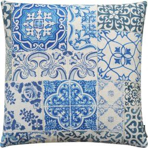 The Cushion Shop kussen Antique Tiles Blue