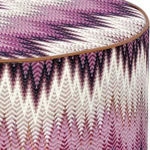 Missoni Home cylinder pouf Phrae
