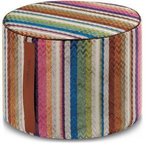Missoni Home cylinder pouf Ravenna