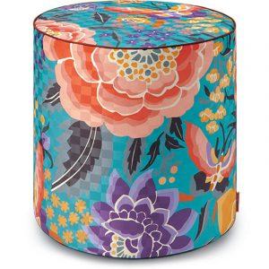 Missoni Home cylinder pouf Samoa 174