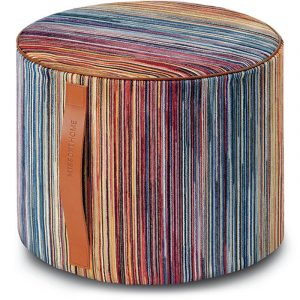Missoni Home cylinder pouf Santiago