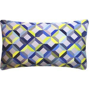 Nitin Goyal cushion Chevron Lime-Grey