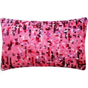 Nitin Goyal long cushion Pixelated Triangles Berry