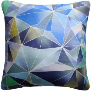 Nitin Goyal cushion Stained Glass Blue
