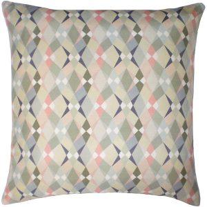 Nitin Goyal cushion Trio Grey-Soft Pink