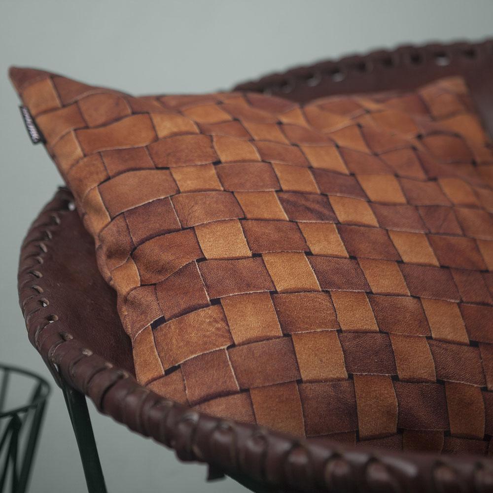 Snurk cushion Heather leather