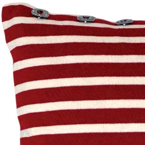 Jean Paul Gaultier Home cushion Petit Marin rouge-ecru
