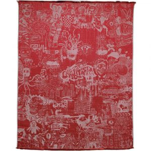 Jean Paul Gaultier Home throw Expression Rouge