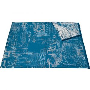 Jean Paul Gaultier Home throw Expression Blue