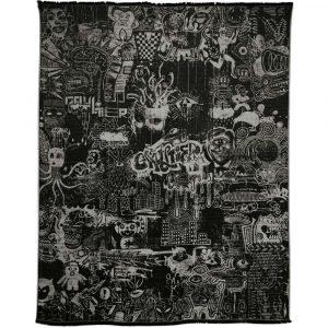 Jean Paul Gaultier Home throw Expression Noir