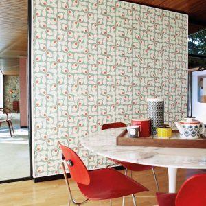Orla Kiely wallpaper Acorn Spot Grey