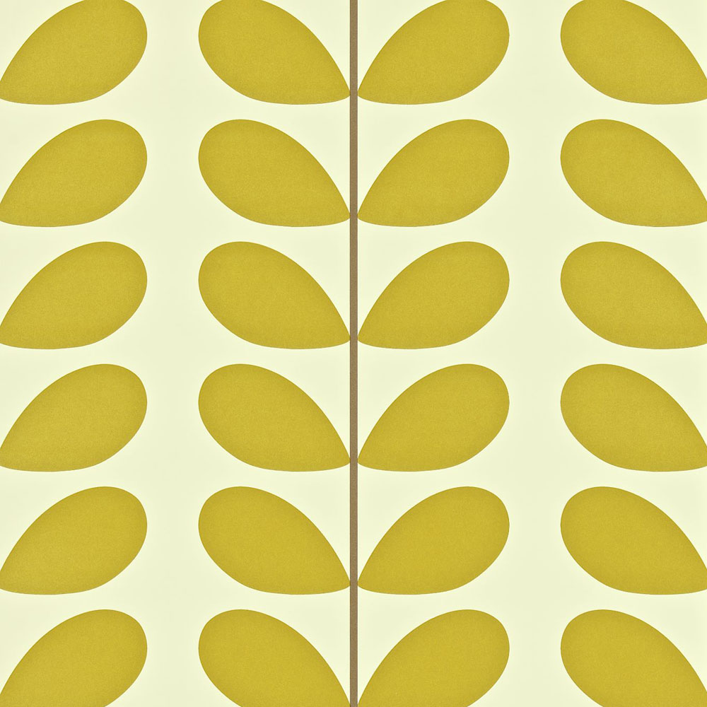 Orla Kiely wallpaper Classic Stem Olive