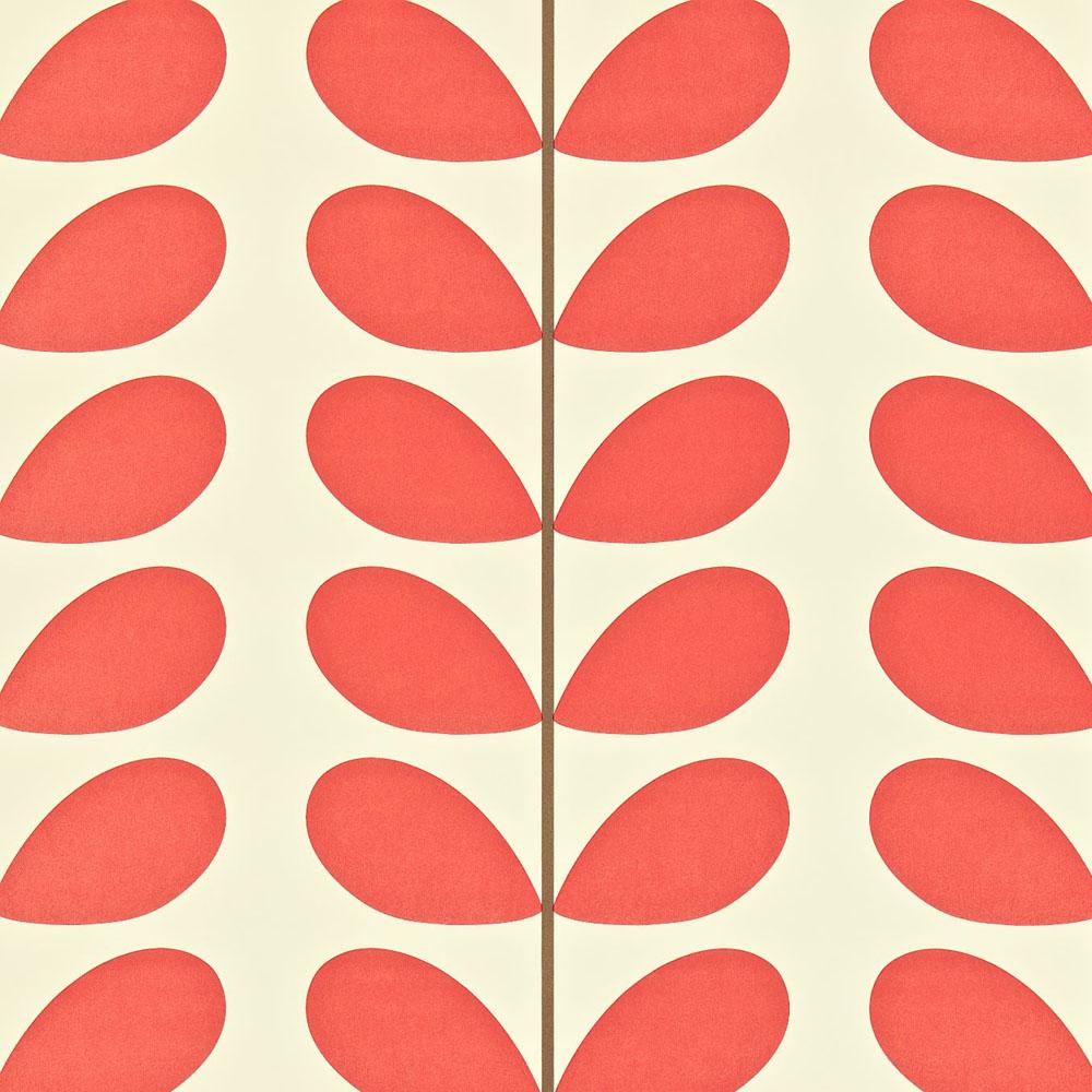Orla Kiely wallpaper Classic Stem Poppy